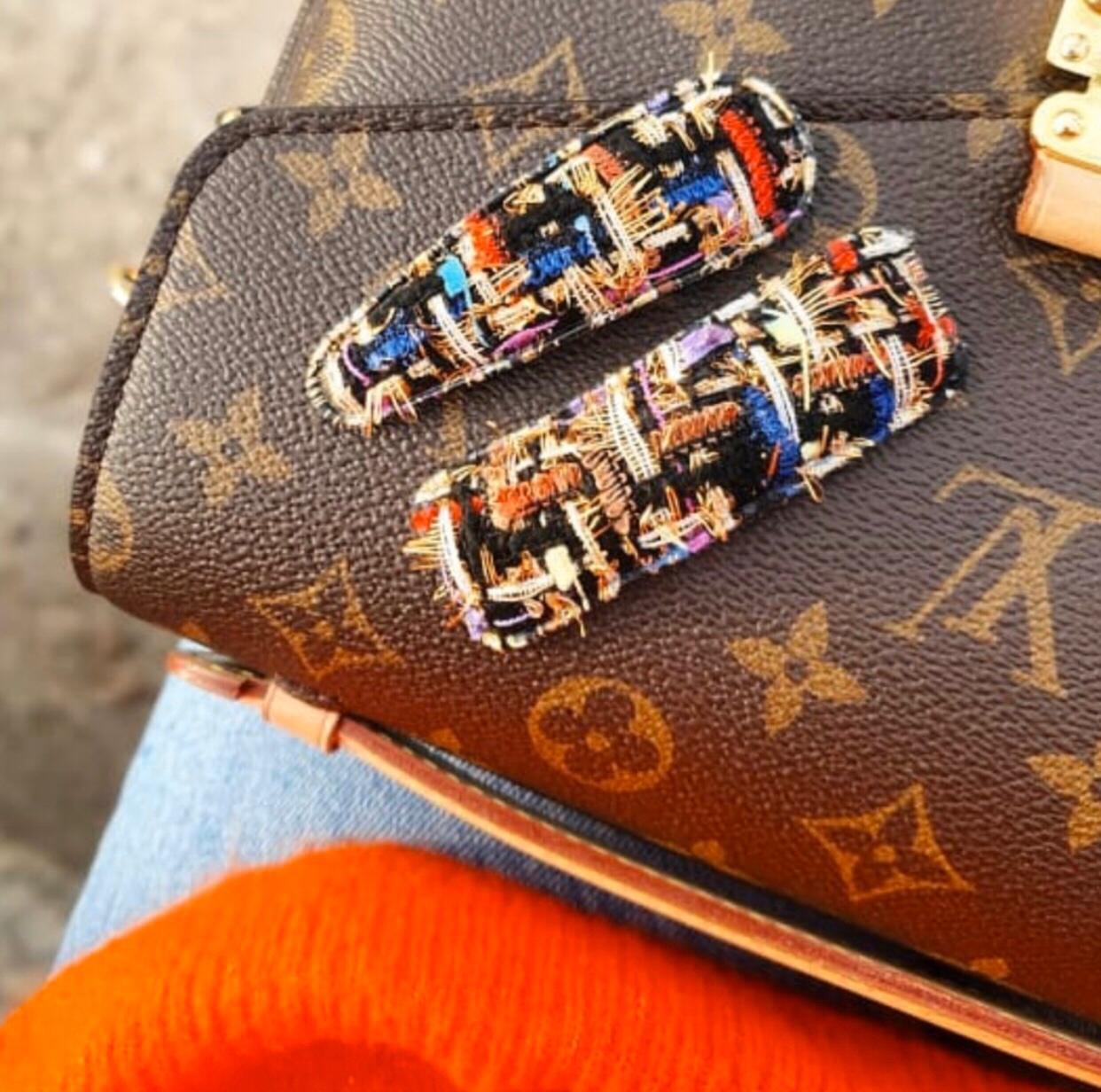 Presilha Par Tic Tac Textura Tweed